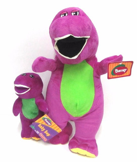 Peluche Barney 20 Cm Tela Plush Original Fisher Price Miralo