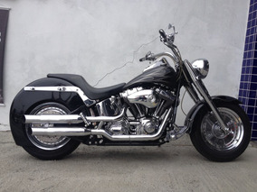 Harley-davidson Softail Fat Boy Customizada 2004 - Preta