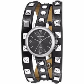 Relógio Feminino Pulseira Couro Com Tachas 76358l0mvnh1
