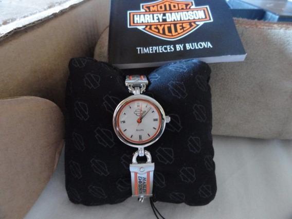Bulova Harley Davidson Feminino Novo Na Caixa 22mm Lindo