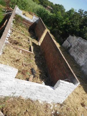 Casa A Terminar Terreno Excelente Cimiento+paredes=1/2 Casa