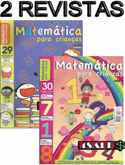 2 Revistas Matemática Para Crianças Atividade Contas Tabuada