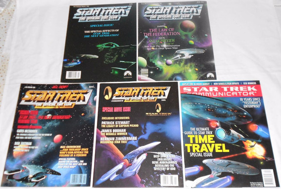 Star Trek Communicator Lote Spaceship2 5 Revistas Importadas