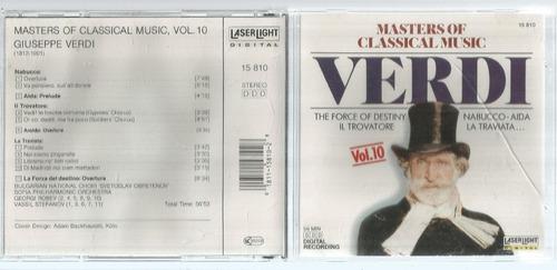 Cd Masters Of Classical Music Verdi 10 - Bonellihq Cx45 E19
