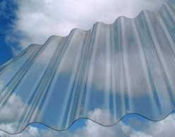Chapa De Policarbonato Ondulada Transparente 1.10 X 6 Mts