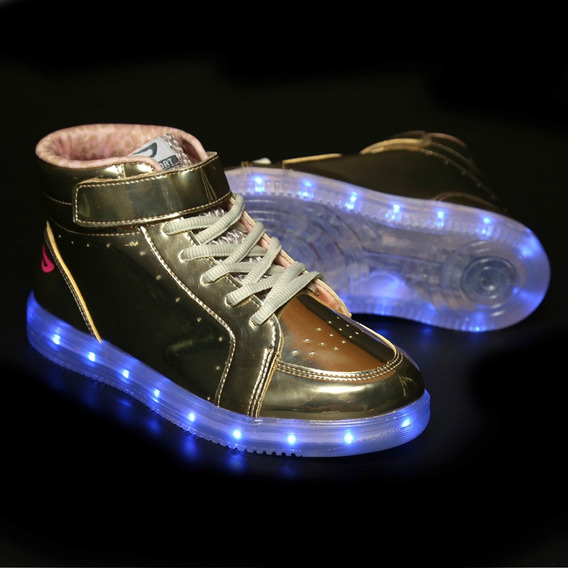 Bota Ortopé Color Led Ouro