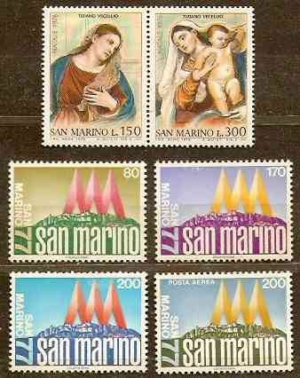 San Marino - Año 1977 - 2 Series Mint Completas Impecables -