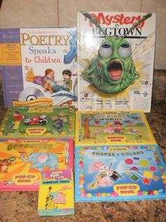 Set De 6 Libros En Ingles,poemas,figuras,colores Y Palabras