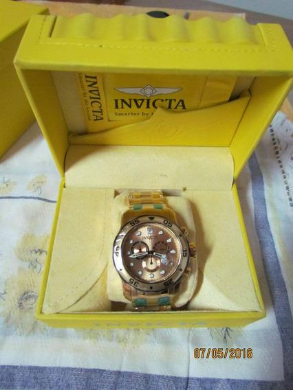 Relógio Invicta 80070 Banhado Ouro 18k