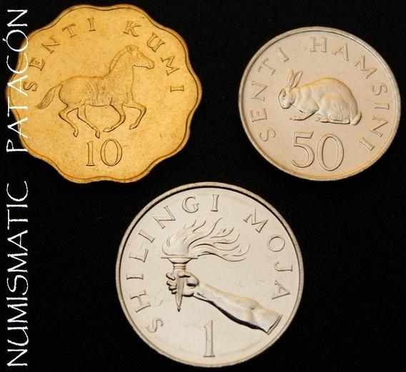 3 Monedas De Tanzania - Sin Circular