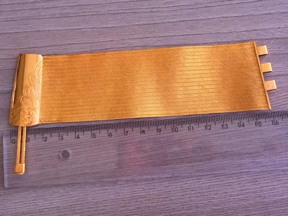 Pulseira Em Ouro 22k-900, 72,9 Gr., Comp. 16 Cm, Larg. 40mm,