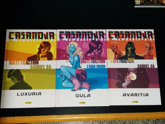 Casanova 1 A 3 Completo De Gabriel Bá Fábio Moon Ed. Panini