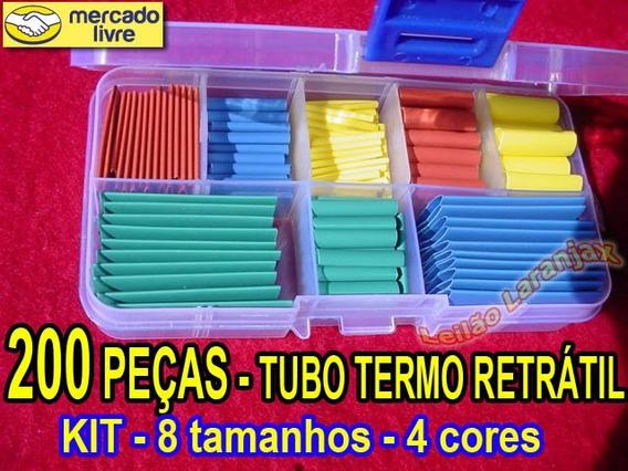 Tubo Espaguete Termo Retrátil Isolante Box 200 Peças, 8 Tipo
