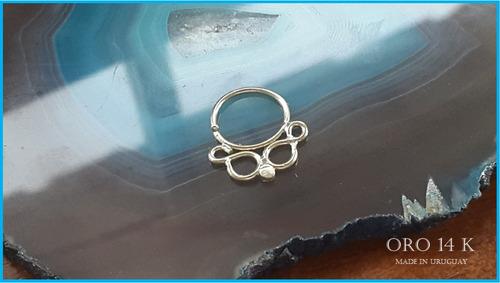 Imagen 1 de 5 de Piercing Para Nariz En Oro Solido 14k - Industria Uruguaya