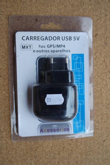 Carregador Usb Para Gps/mp4 E Outros Aparelhos