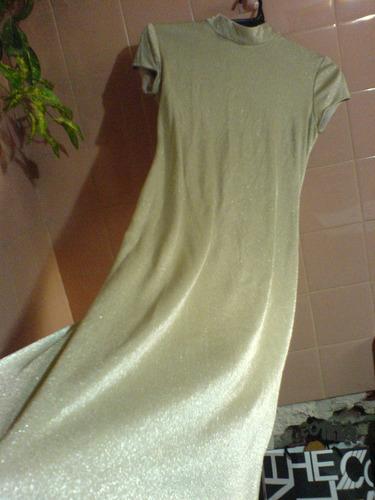 Vestido De Fiesta Largo Importado Usa En Color Oro Con Brill