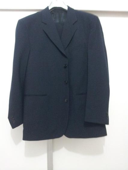 Terno Conjunto Calça E Palitó Azul Ou Preto