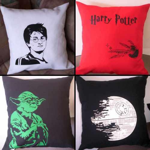 Almohadones Estampas Cine Series Lost Harry Potter Star Wars