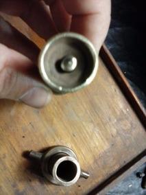 Esguicho Antigo E Bocal De Torneir Metal Amarelo (only Wood)