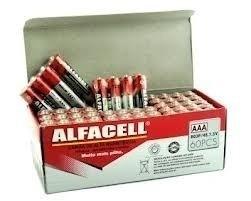 Pilha Aaa Alfacell Caixa Com 60 Unid, Palito Fina Envio 24h