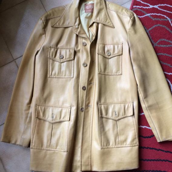 Saco Vintage En Ecocuero Importado Excelente Confeccion!!