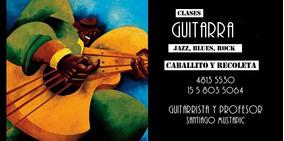 Clases Guitarra Jazz, Rock, Blues. Caballito Y Recoleta