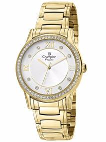 Relógio Feminino Champion Dourado Ch24633h Original