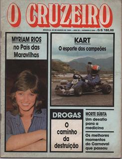 Revista O Cruzeiro - Março De 1982 - Myriam Rios - Raridade