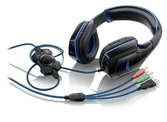 Headset Gamer Dual Shock Led Multilaser Play3/pc