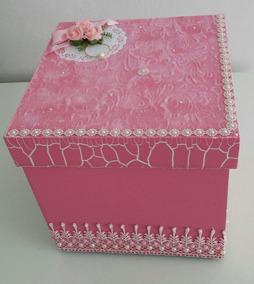 Caixa Em Mdf Feminina Decorada(ideal Para Presentear)20×20cm