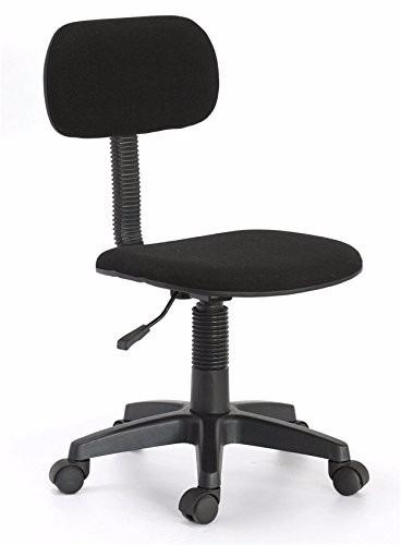 Silla para escritorio ergonomica estudiante color negro for Silla de escritorio precio
