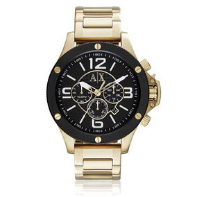 Relógio Masculino Armani Exchange Analógico Ax1511/4pn Doura