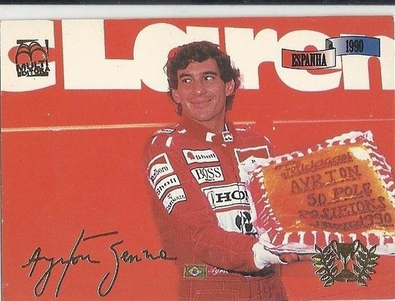 Card Ayrton Senna A 50ª Pole-position N-65 Ok