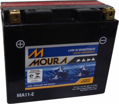 Bateria Moto Moura Yt12b-bs / Ma11-eyamaha Xj-6 Fazer 600