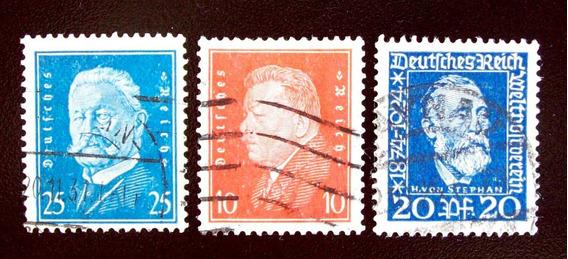 Alemania, Reich - Lote 3 Sellos Yv. 360-404-407 Usados L4554