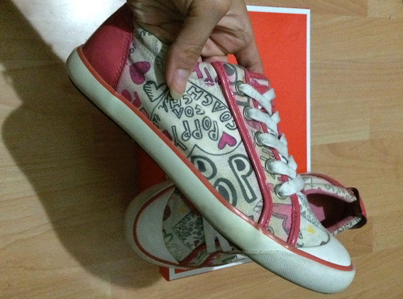 Tenis Coach Barret Pink Poppy Patent Leather 100% Originales