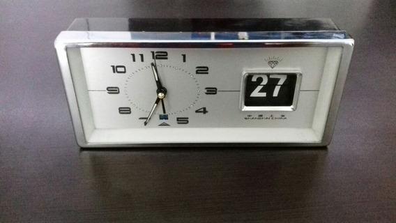 Reloj Despertador Vintage Decoracion Antiguo Cuerda Fecha
