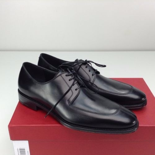 Salvatore Ferragamo Major Derby Nero Bezerro Preto
