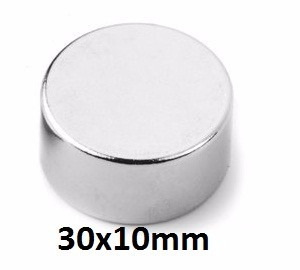 10 Super Imã Neodímio 30x10mm - 30x10 N50 - 30 X 10