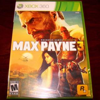 Videojuego Max Payne 3 Xbox 360 Físico Nuevo Sellado