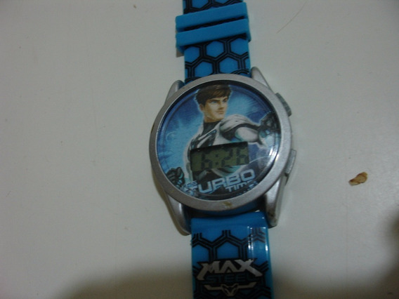 = Relogio De Pulso Max Steel Turbo Time Mattel Digital