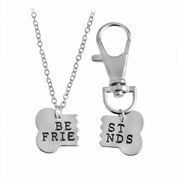 Collar Amistad Set 2 Dijes Mascota Collar Perro Mejor Amigo