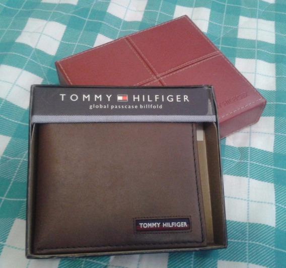 Cartera O Billetera Tommy Hilfiger De Cuero, 100% Original