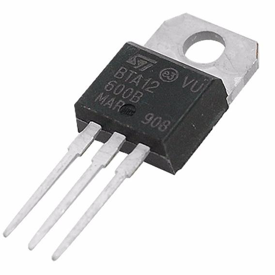 5 Unidades Bta 12-600 Triac To220 Bta12-600 600v 12a