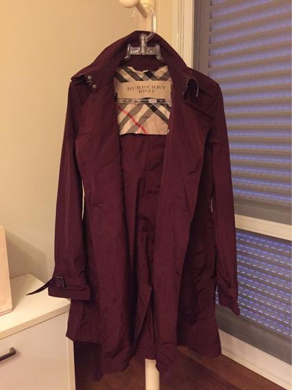 Trench Coat Burberry Cor Dark Crimson Tamanho G Original