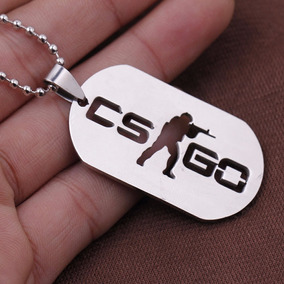 Colar Cs Go Dog Tag Inox Counter Strike Global Offensive