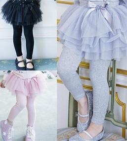 f3c6e179adba63 Saía Tutu Com Calça Legging Infantil Moda Princesa