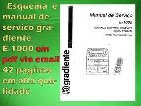 Esquema E Serviço Gradiente E-1000 E1000 Em Pdf Via Email