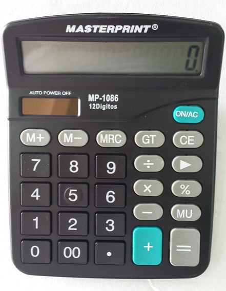 Calculadora Manual 12 Dig. Mp1086 Masterprint C/1 Unidade.