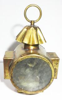 Antiguo Farol De Colgar De Bronce , Electrificado P/ Su Uso